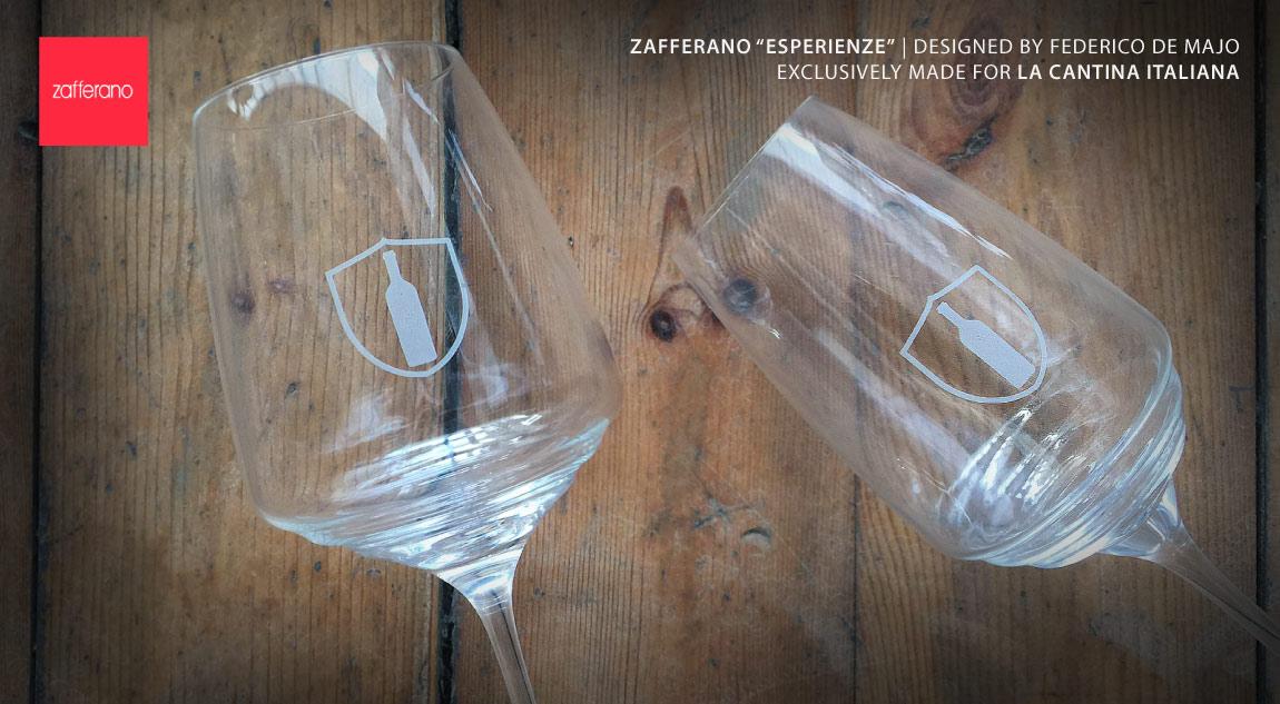 Zafferano glass X La Cantina Italiana - press