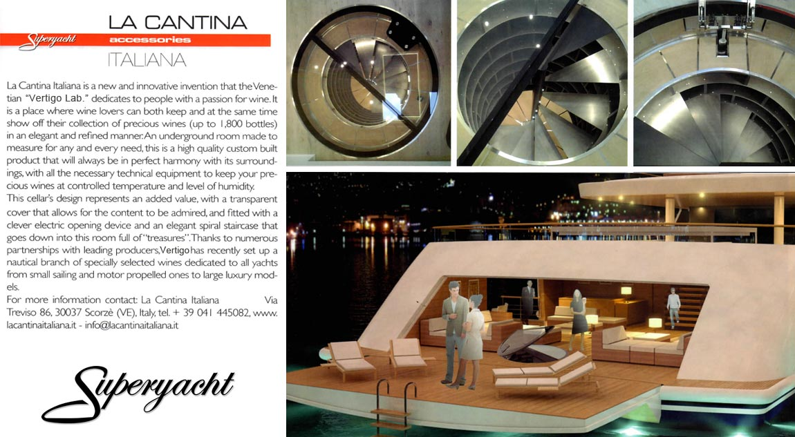 La Cantina Italiana featured on Superyacht Autumn 2016